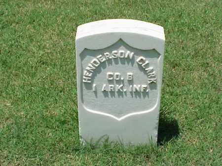 CLARK (VETERAN UNION), HENDERSON - Pulaski County, Arkansas | HENDERSON CLARK (VETERAN UNION) - Arkansas Gravestone Photos