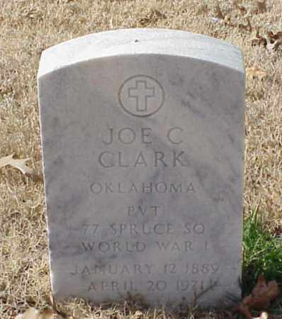 CLARK (VETERAN WWI), JOE C - Pulaski County, Arkansas | JOE C CLARK (VETERAN WWI) - Arkansas Gravestone Photos