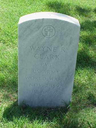 CLARK (VETERAN WWI), WAYNE R - Pulaski County, Arkansas | WAYNE R CLARK (VETERAN WWI) - Arkansas Gravestone Photos