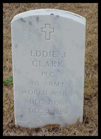 CLARK (VETERAN WWII), EDDIE J - Pulaski County, Arkansas | EDDIE J CLARK (VETERAN WWII) - Arkansas Gravestone Photos