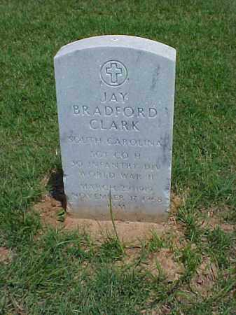 CLARK (VETERAN WWII), JAY BRADFORD - Pulaski County, Arkansas | JAY BRADFORD CLARK (VETERAN WWII) - Arkansas Gravestone Photos