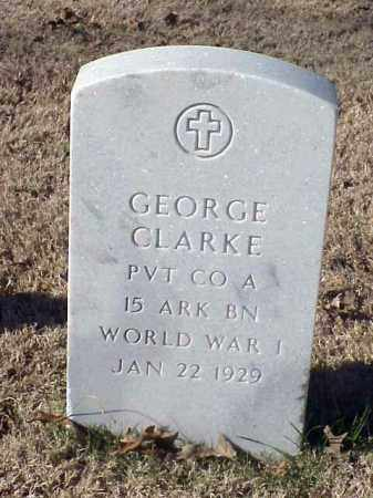CLARKE (VETERAN WWI), GEORGE - Pulaski County, Arkansas | GEORGE CLARKE (VETERAN WWI) - Arkansas Gravestone Photos