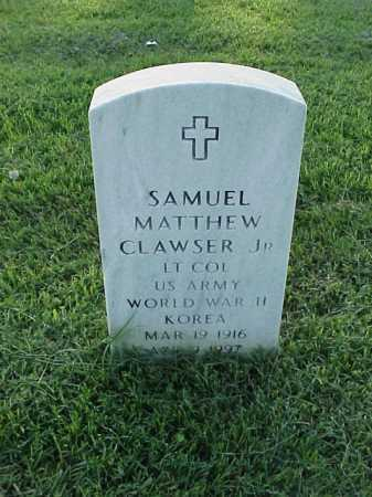 CLAWSER, JR (VETERAN 2 WARS), SAMUEL MATTHEW - Pulaski County, Arkansas | SAMUEL MATTHEW CLAWSER, JR (VETERAN 2 WARS) - Arkansas Gravestone Photos