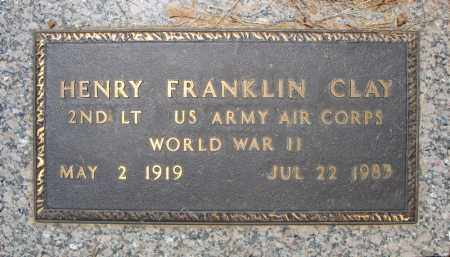 CLAY (VETERAN WWII), HENRY FRANKLIN - Pulaski County, Arkansas | HENRY FRANKLIN CLAY (VETERAN WWII) - Arkansas Gravestone Photos