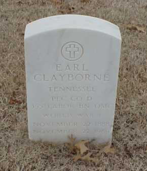 CLAYBORNE  (VETERAN WWI), EARL - Pulaski County, Arkansas | EARL CLAYBORNE  (VETERAN WWI) - Arkansas Gravestone Photos
