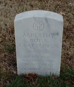 CLAYTON, JR (VETERAN WWI), ALBERTUS BOISE - Pulaski County, Arkansas | ALBERTUS BOISE CLAYTON, JR (VETERAN WWI) - Arkansas Gravestone Photos