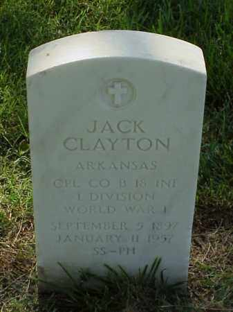 CLAYTON (VETERAN WWI), JACK - Pulaski County, Arkansas | JACK CLAYTON (VETERAN WWI) - Arkansas Gravestone Photos