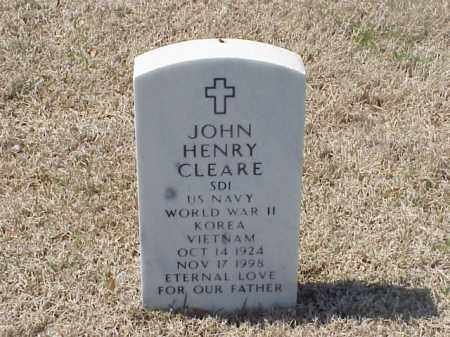 CLEARE (VETERAN 3 WARS), JOHN HENRY - Pulaski County, Arkansas | JOHN HENRY CLEARE (VETERAN 3 WARS) - Arkansas Gravestone Photos