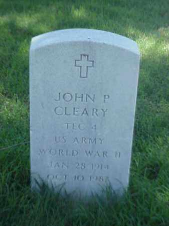 CLEARY (VETERAN WWII), JOHN P - Pulaski County, Arkansas | JOHN P CLEARY (VETERAN WWII) - Arkansas Gravestone Photos
