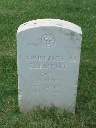 CLEMENT (VETERAN), LAWRENCE M - Pulaski County, Arkansas | LAWRENCE M CLEMENT (VETERAN) - Arkansas Gravestone Photos