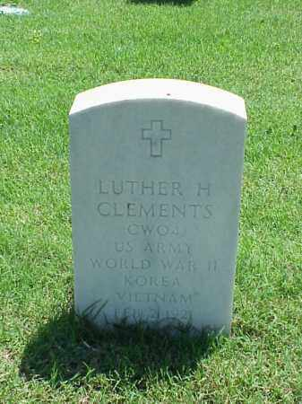 CLEMENTS (VETERAN 3 WARS), LUTHER H - Pulaski County, Arkansas | LUTHER H CLEMENTS (VETERAN 3 WARS) - Arkansas Gravestone Photos