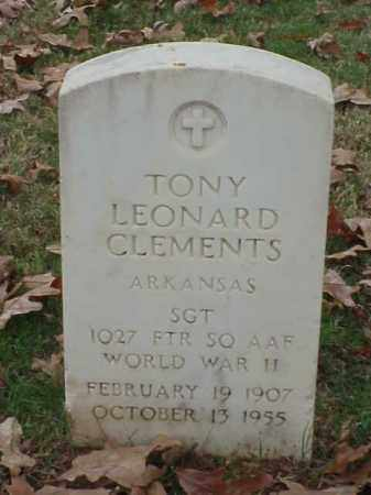 CLEMENTS (VETERAN WWII), TONY LEONARD - Pulaski County, Arkansas | TONY LEONARD CLEMENTS (VETERAN WWII) - Arkansas Gravestone Photos