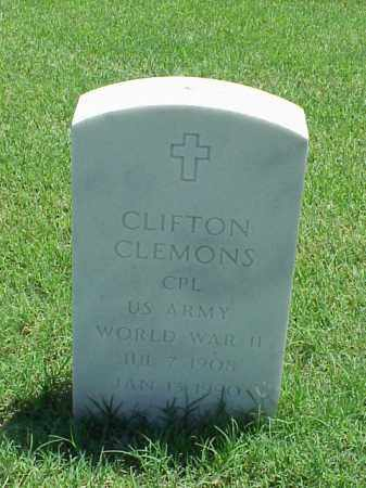 CLEMONS (VETERAN WWII), CLIFTON - Pulaski County, Arkansas | CLIFTON CLEMONS (VETERAN WWII) - Arkansas Gravestone Photos