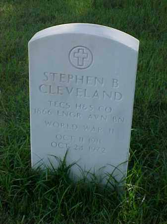 CLEVELAND (VETERAN WWII), STEPHEN B - Pulaski County, Arkansas | STEPHEN B CLEVELAND (VETERAN WWII) - Arkansas Gravestone Photos