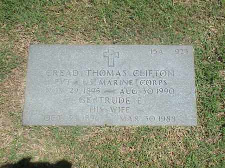 CLIFTON (VETERAN WWI), CREAD THOMAS - Pulaski County, Arkansas | CREAD THOMAS CLIFTON (VETERAN WWI) - Arkansas Gravestone Photos