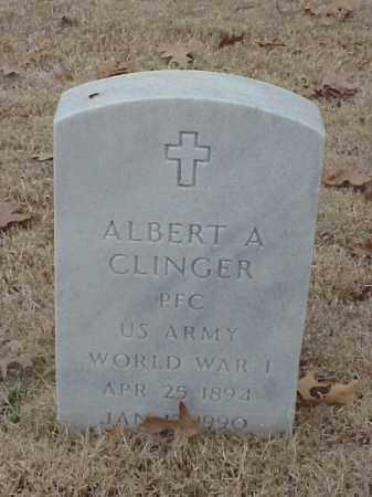 CLINGER (VETERAN WWI), ALBERT A - Pulaski County, Arkansas | ALBERT A CLINGER (VETERAN WWI) - Arkansas Gravestone Photos