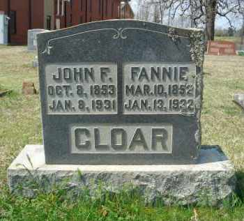 SIMCOX CLOAR, FANNIE - Pulaski County, Arkansas | FANNIE SIMCOX CLOAR - Arkansas Gravestone Photos