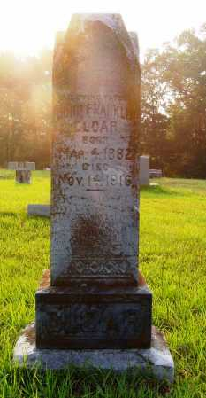 CLOAR, JR., JOHN FRANKLIN - Pulaski County, Arkansas | JOHN FRANKLIN CLOAR, JR. - Arkansas Gravestone Photos