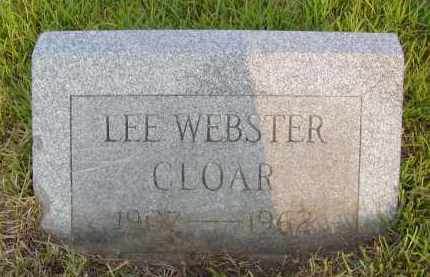 CLOAR, LEE WEBSTER - Pulaski County, Arkansas | LEE WEBSTER CLOAR - Arkansas Gravestone Photos