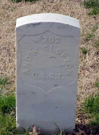 CLOPTON (VETERAN UNION), ANDREW - Pulaski County, Arkansas | ANDREW CLOPTON (VETERAN UNION) - Arkansas Gravestone Photos