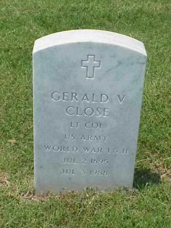 CLOSE (VETERAN 2 WARS), GERALD V - Pulaski County, Arkansas | GERALD V CLOSE (VETERAN 2 WARS) - Arkansas Gravestone Photos