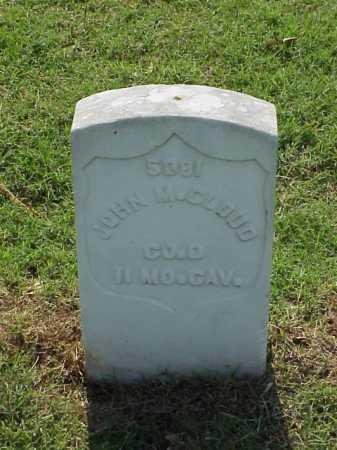 CLOUD (VETERAN UNION), JOHN M - Pulaski County, Arkansas | JOHN M CLOUD (VETERAN UNION) - Arkansas Gravestone Photos