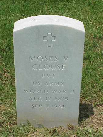 CLOUSE (VETERAN WWII), MOSES V - Pulaski County, Arkansas | MOSES V CLOUSE (VETERAN WWII) - Arkansas Gravestone Photos
