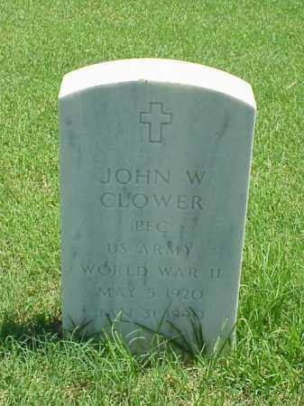 CLOWER (VETERAN WWII), JOHN W - Pulaski County, Arkansas | JOHN W CLOWER (VETERAN WWII) - Arkansas Gravestone Photos