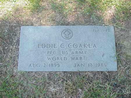 COAKLA (VETERAN WWI), EDDIE C - Pulaski County, Arkansas | EDDIE C COAKLA (VETERAN WWI) - Arkansas Gravestone Photos