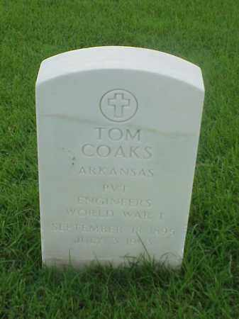 COAKS (VETERAN WWI), TOM - Pulaski County, Arkansas | TOM COAKS (VETERAN WWI) - Arkansas Gravestone Photos