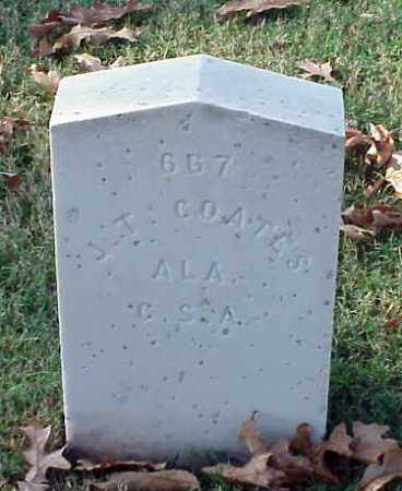 COATES (VETERAN CSA), J T - Pulaski County, Arkansas | J T COATES (VETERAN CSA) - Arkansas Gravestone Photos