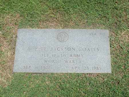 COATES (VETERAN WWII), ARCHIE JACKSON - Pulaski County, Arkansas | ARCHIE JACKSON COATES (VETERAN WWII) - Arkansas Gravestone Photos
