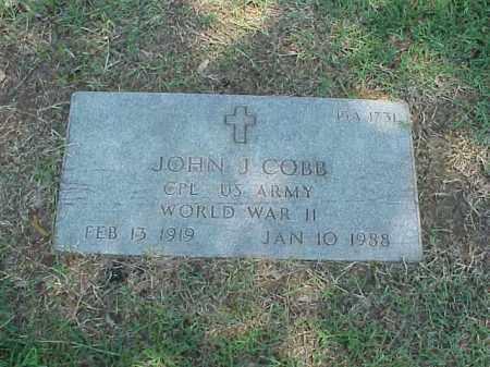 COBB (VETERAN WWII), JOHN J - Pulaski County, Arkansas | JOHN J COBB (VETERAN WWII) - Arkansas Gravestone Photos