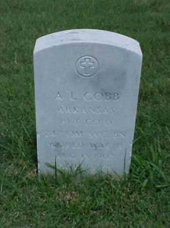 COBB (VETERAN WWII), A L - Pulaski County, Arkansas | A L COBB (VETERAN WWII) - Arkansas Gravestone Photos