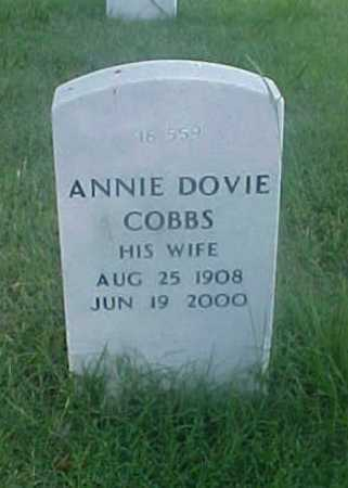 COBBS, ANNIE DOVIE - Pulaski County, Arkansas | ANNIE DOVIE COBBS - Arkansas Gravestone Photos