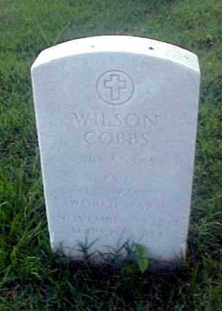 COBBS (VETERAN WWI), WILSON - Pulaski County, Arkansas | WILSON COBBS (VETERAN WWI) - Arkansas Gravestone Photos