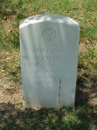 COBBS (VETERAN WWII), THEODUS - Pulaski County, Arkansas | THEODUS COBBS (VETERAN WWII) - Arkansas Gravestone Photos