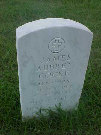 COCKE (VETERAN WWII), JAMES AUBREY - Pulaski County, Arkansas | JAMES AUBREY COCKE (VETERAN WWII) - Arkansas Gravestone Photos