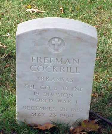 COCKRILL (VETERAN WWI), FREEMAN - Pulaski County, Arkansas | FREEMAN COCKRILL (VETERAN WWI) - Arkansas Gravestone Photos
