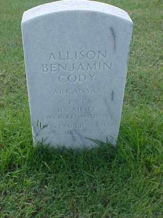 CODY (VETERAN WWII), ALLISON BENJAMIN - Pulaski County, Arkansas | ALLISON BENJAMIN CODY (VETERAN WWII) - Arkansas Gravestone Photos