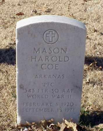 COE (VETERAN WWII), MASON HAROLD - Pulaski County, Arkansas | MASON HAROLD COE (VETERAN WWII) - Arkansas Gravestone Photos
