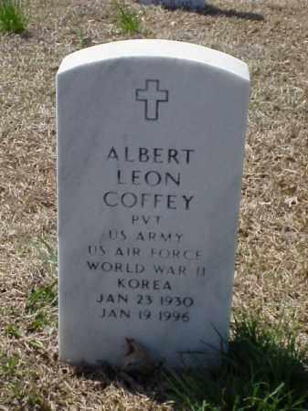 COFFEY (VETERAN 2 WARS), ALBERT LEON - Pulaski County, Arkansas | ALBERT LEON COFFEY (VETERAN 2 WARS) - Arkansas Gravestone Photos