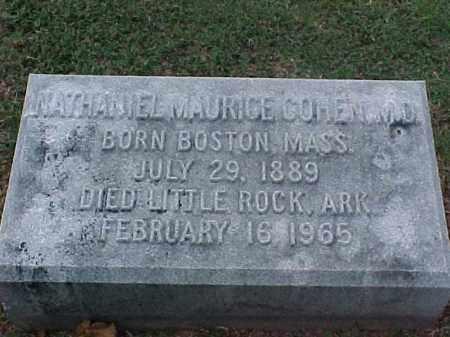 COHEN, MD, NATHANIEL MAURICE - Pulaski County, Arkansas | NATHANIEL MAURICE COHEN, MD - Arkansas Gravestone Photos