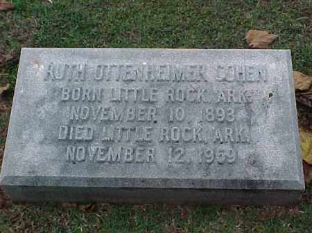 COHEN, RUTH - Pulaski County, Arkansas | RUTH COHEN - Arkansas Gravestone Photos