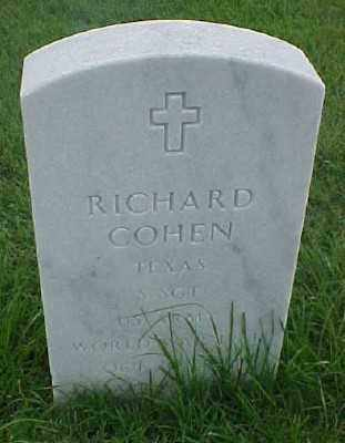 COHEN (VETERAN WWII), RICHARD - Pulaski County, Arkansas | RICHARD COHEN (VETERAN WWII) - Arkansas Gravestone Photos