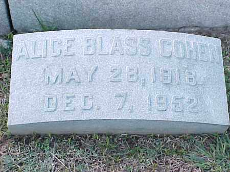 COHN, ALICE - Pulaski County, Arkansas | ALICE COHN - Arkansas Gravestone Photos