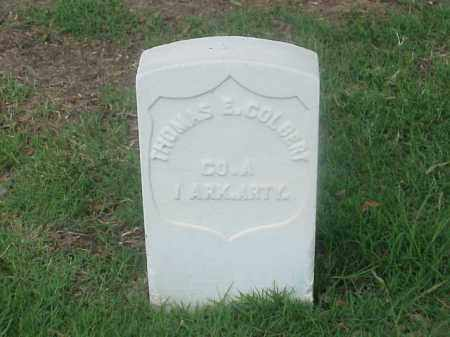 COLBERT (VETERAN UNION), THOMAS E - Pulaski County, Arkansas | THOMAS E COLBERT (VETERAN UNION) - Arkansas Gravestone Photos