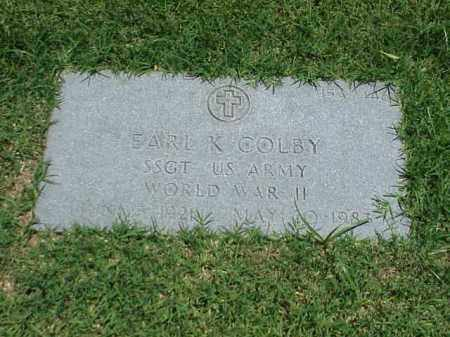 COLBY (VETERAN WWII), EARL K - Pulaski County, Arkansas | EARL K COLBY (VETERAN WWII) - Arkansas Gravestone Photos