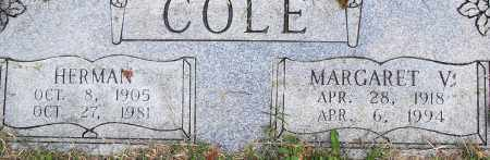 COLE, MARGARET V - Pulaski County, Arkansas | MARGARET V COLE - Arkansas Gravestone Photos