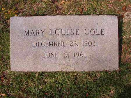 COLE, MARY LOUISE - Pulaski County, Arkansas | MARY LOUISE COLE - Arkansas Gravestone Photos